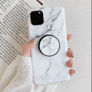 iPhone 11 Pro Max Marble Case with holder